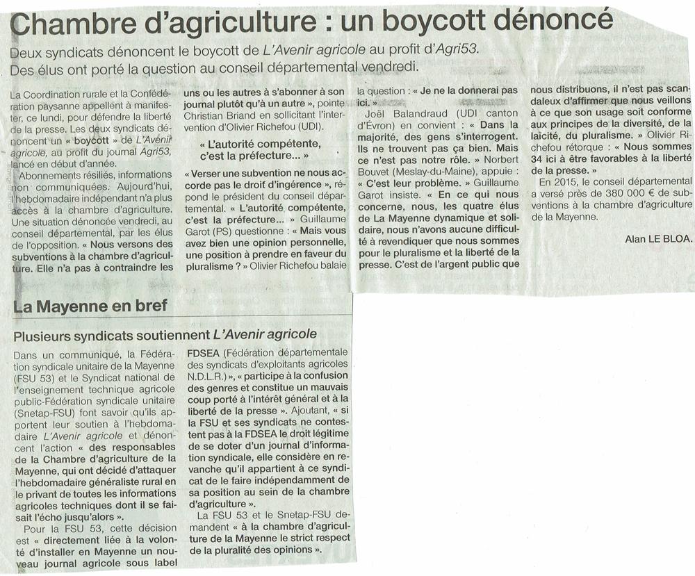 Pays de la loire coordination rurale cr for Chambre agriculture mayenne