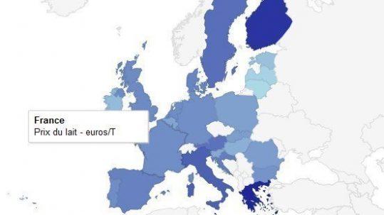 Prix du lait en Europe