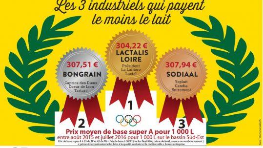 Podium Olympiades du Lait