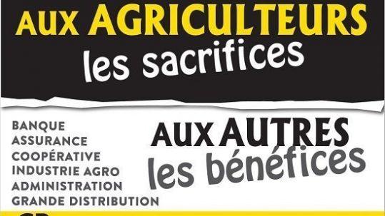 Agriculteurs sacrifices autres benefices