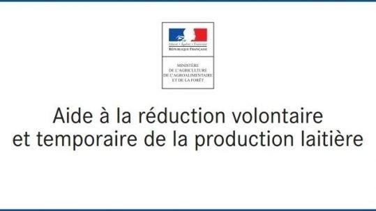 Aide réduction production lait