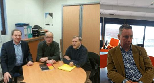 De gauche à droite:  Fabrice Naudé ; Marc Braidy ; Jean-Paul Vuilliot ; Antoine Hacard