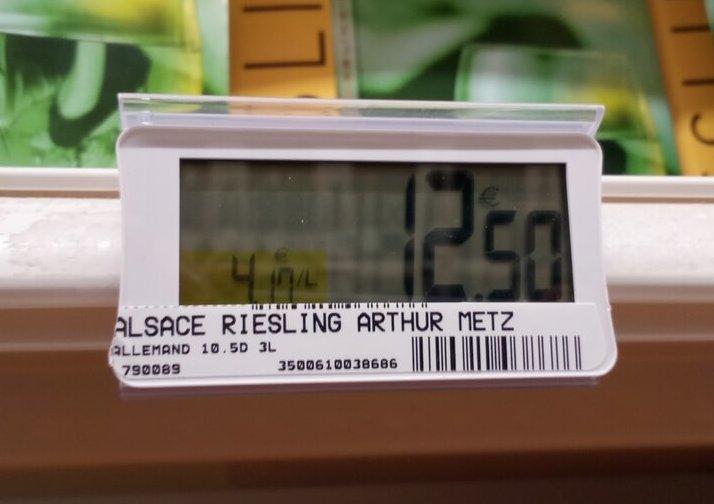étiquette prix BIB riesling