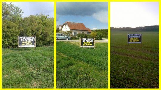 affiches vegan Meuse - sauver un paysan