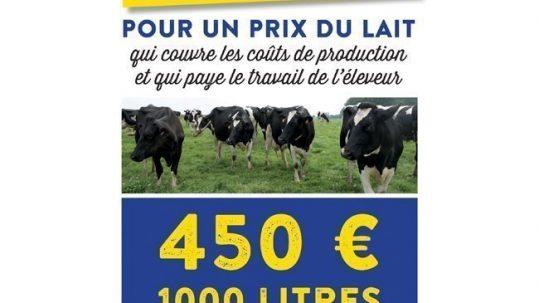Prix du lait 450€ le litre