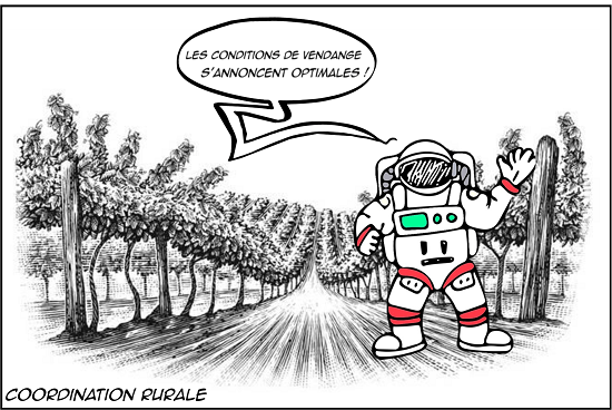 Combinaison cosmonaute viticulture