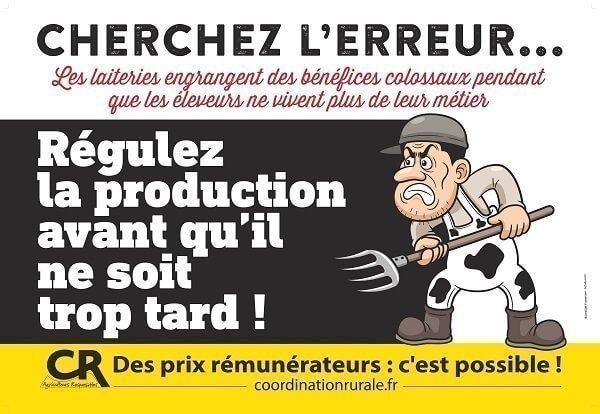 2016 05 Affiche Panneau Regulation Lait  Cmle Reelle Imprimeur