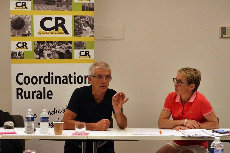conférence de presse de la coordination rurale bernard lannes veronique le floc'h