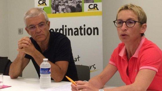 conférence de presse de la coordination rurale bernard lannes et veronique le floc'h
