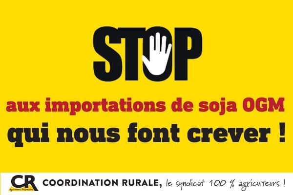 Stop aux importations soja ogm
