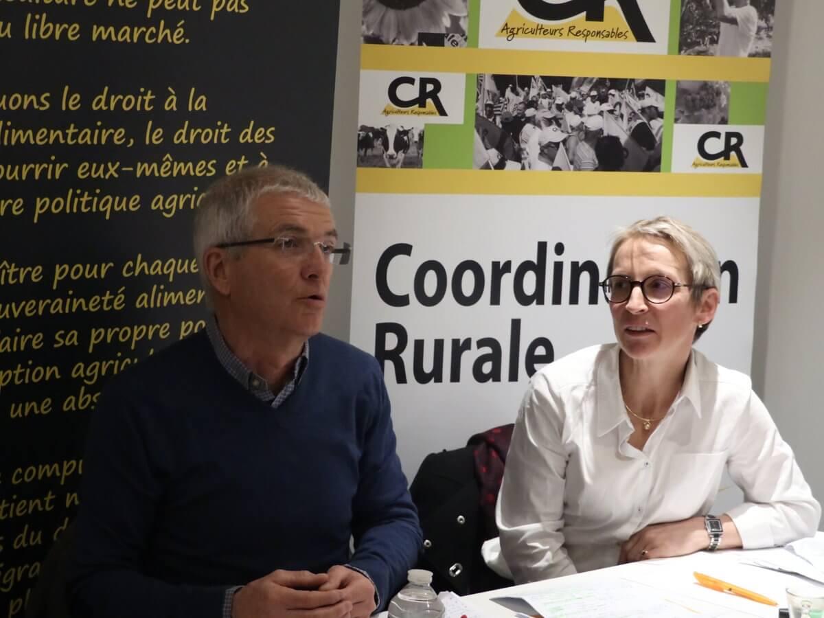 Bernard et Véronique Le Floc'h présentent les vœux de la Coordination Rurale