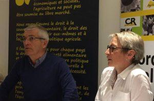 Bernard Lannes et Véronique Le Floc'h aux v¥ux 2018 de la CR ©A. Marcotte/GFA