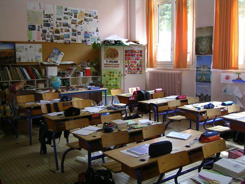 Ecole_-_Salle_de_Classe Article interventions vegans dans les écoles