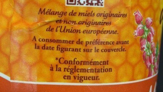 étiquetages des miels