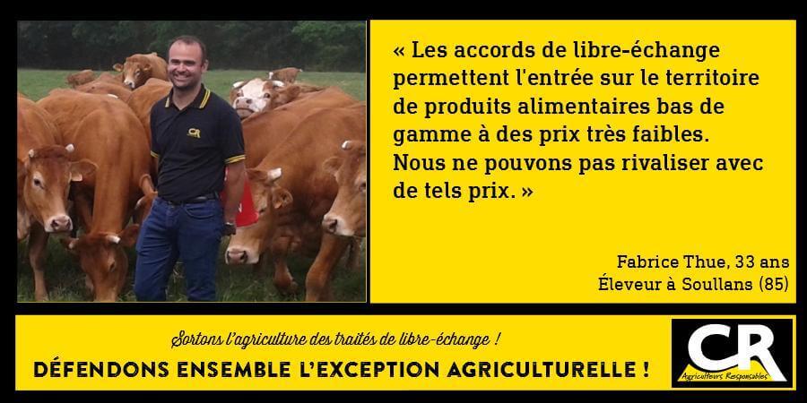 L'agriculture et les accords de libre-échange - Citation de Fabrice Thue