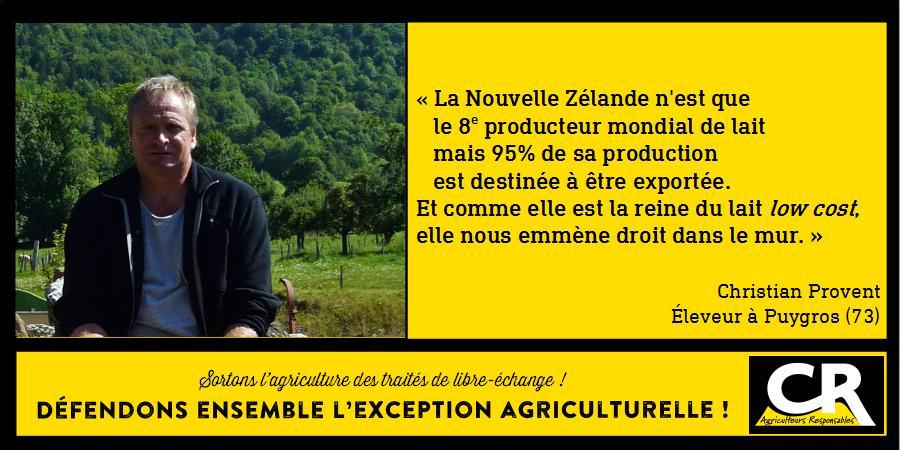 L'agriculture et les accords de libre-échange Citation de Christian Provent