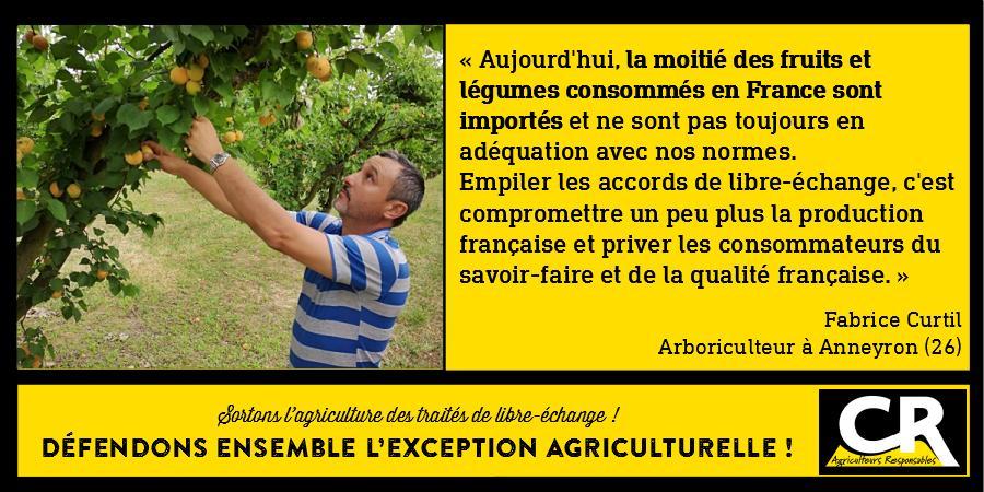 L'agriculture et les accords de libre-échange Citation de Fabrice Curtil