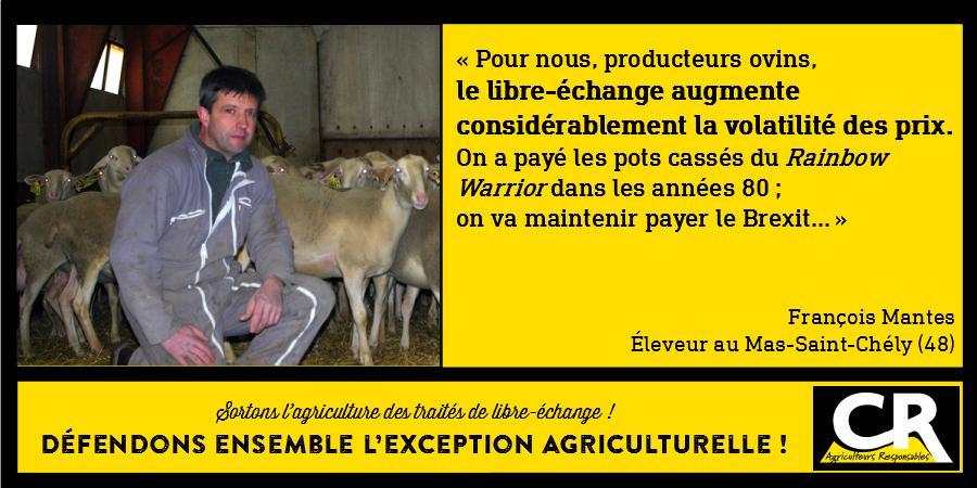 L'agriculture et les accords de libre-échange Citation de François Mantes