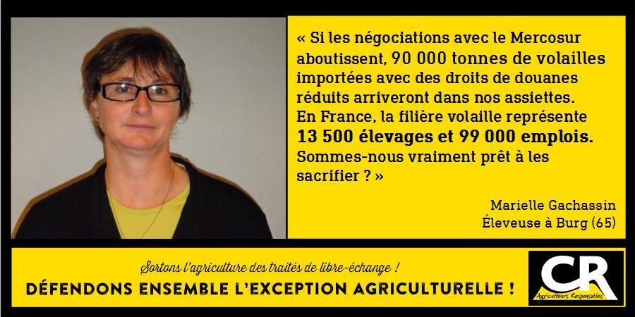 L'agriculture et les accords de libre-échange Citation de Marielle Gachassin