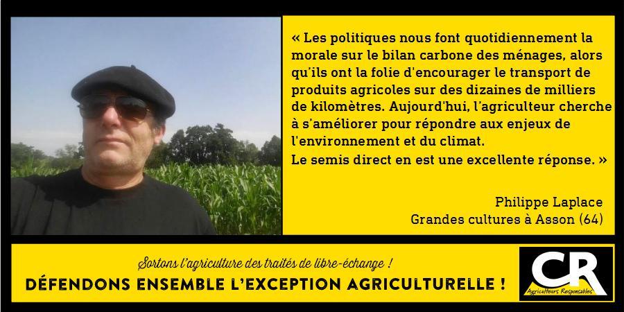 L'agriculture et les accords de libre-échange Citation de Philippe Laplace