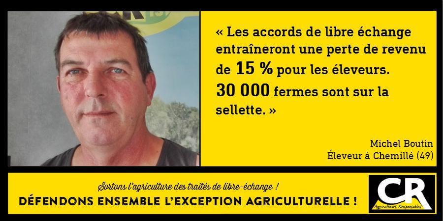 L'agriculture et les accords de libre-échange Citation de Michel Boutin