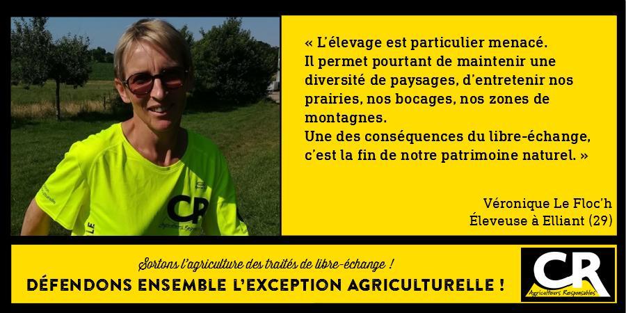 L'agriculture et les accords de libre-échange Citation de Véronique Le Floc'h