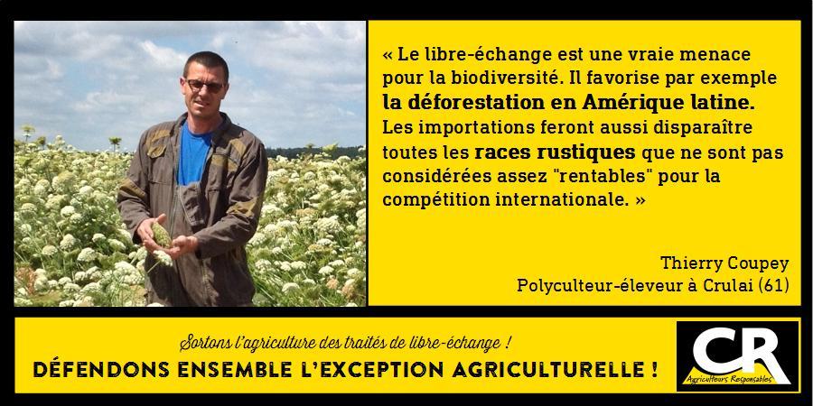 L'agriculture et les accords de libre-échange Citation de Thierry Coupey