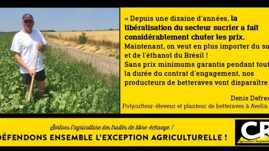 L'agriculture et les accords de libre-échange Citation de Denis Defrenne