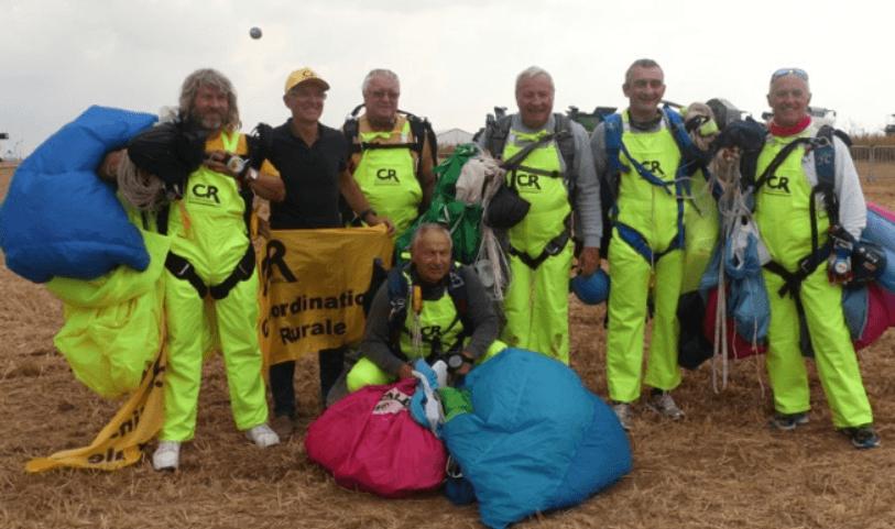 INNOV'AGRI 2018 saut en parachute