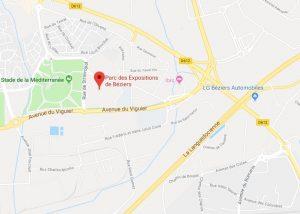 carte parc des expositions de Béziers