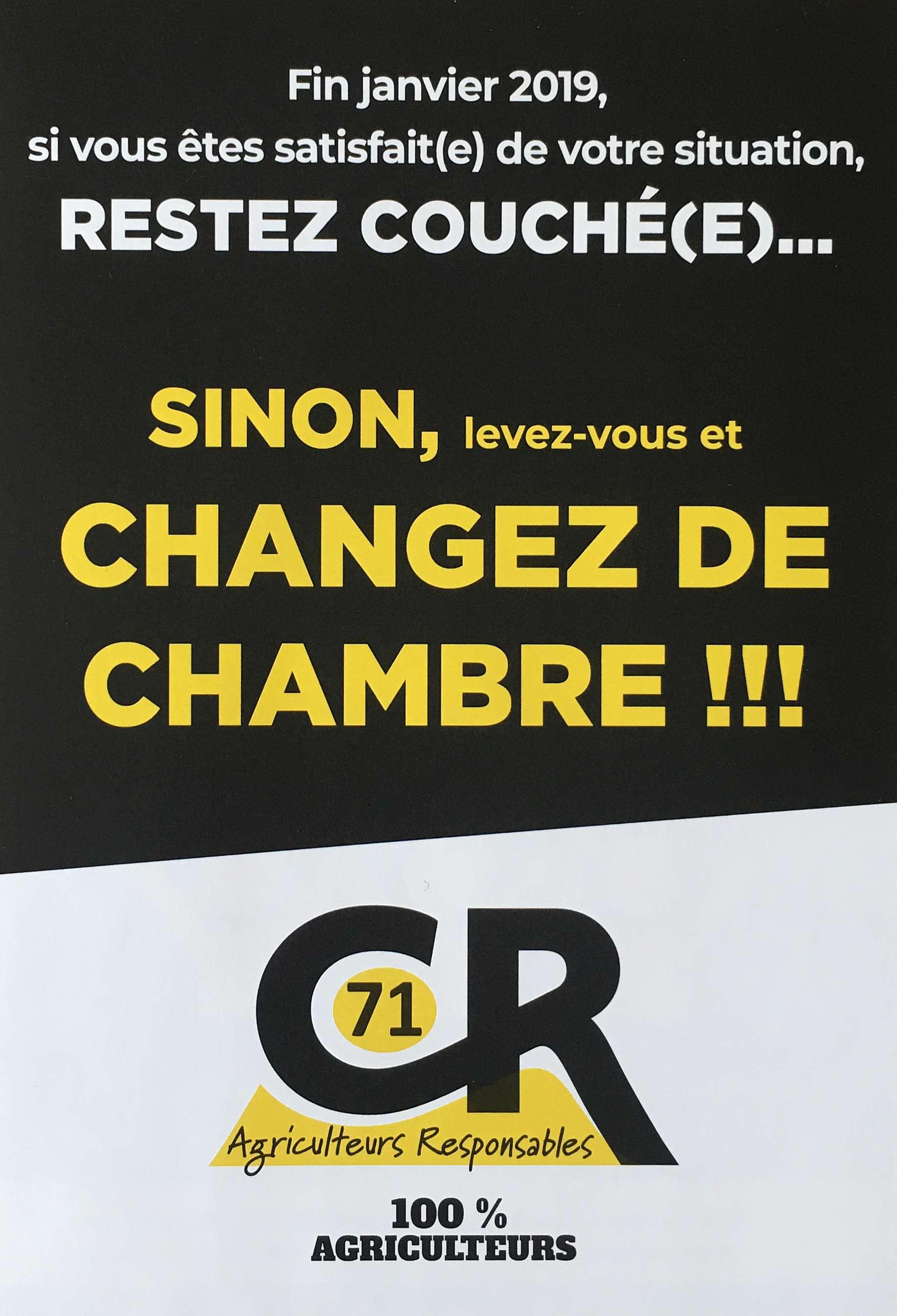 Flyer Saône-et-Loire élections chambre d'agriculture