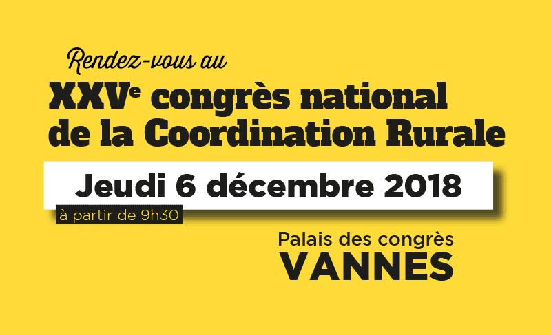25e congrès national de la CR : rendez-vous le 6 décembre 2018 !
