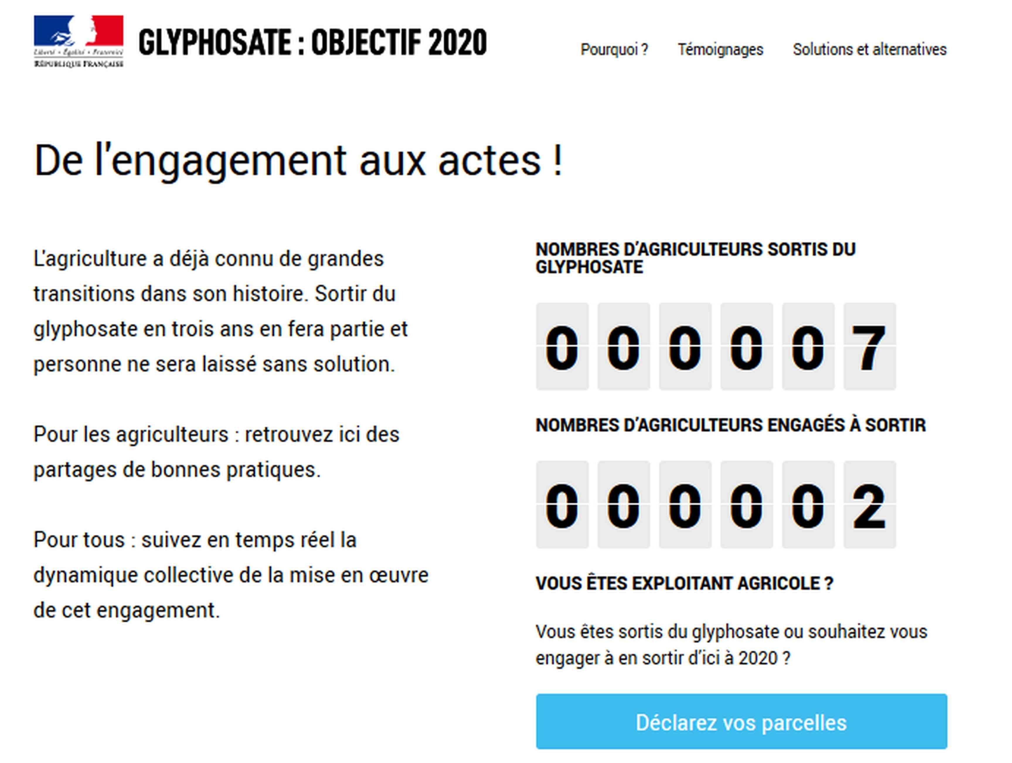 site ministère glyphosate
