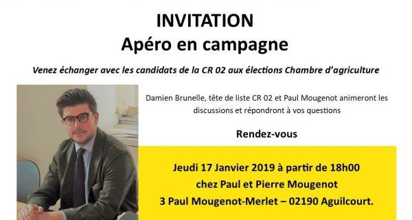 Invitation apéro en campagne