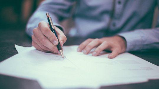 Lettre signature