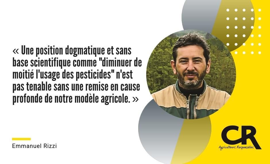 """« Une position dogmatique et sans base scientifique comme """"diminuer de moitié l'usage des pesticides"""" n'est pas tenable sans une remise en cause profonde de notre modèle agricole. » Glyphosate/Biodynamie"""