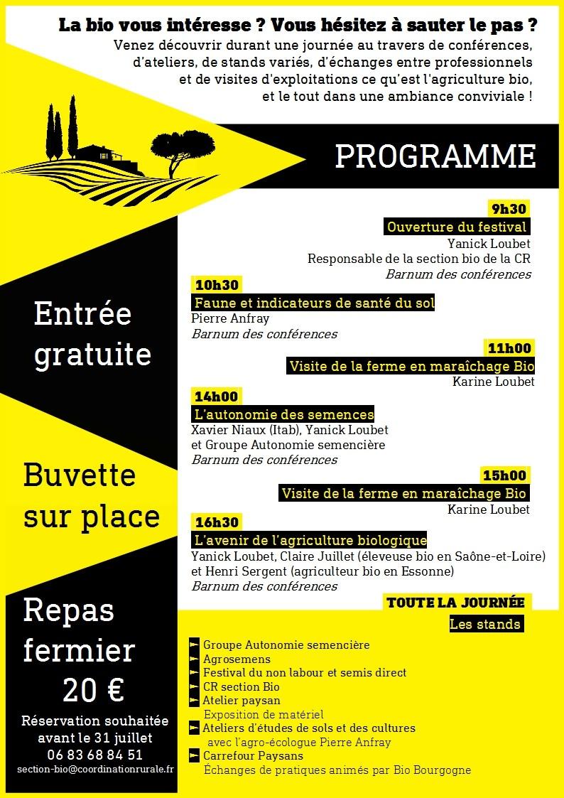 Programme festival agriculture biologique 2019