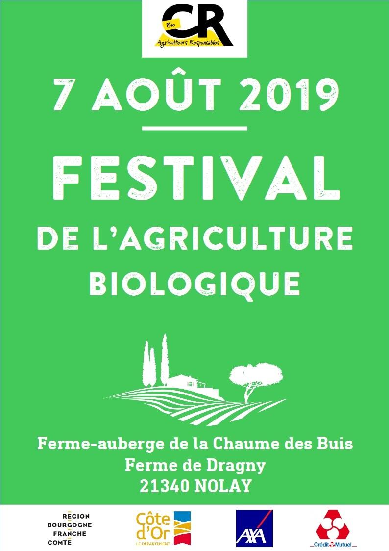 Affichette festival agriculture biologique 2019 Nolay