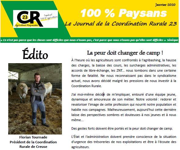 Journal 100 % Paysans CR23
