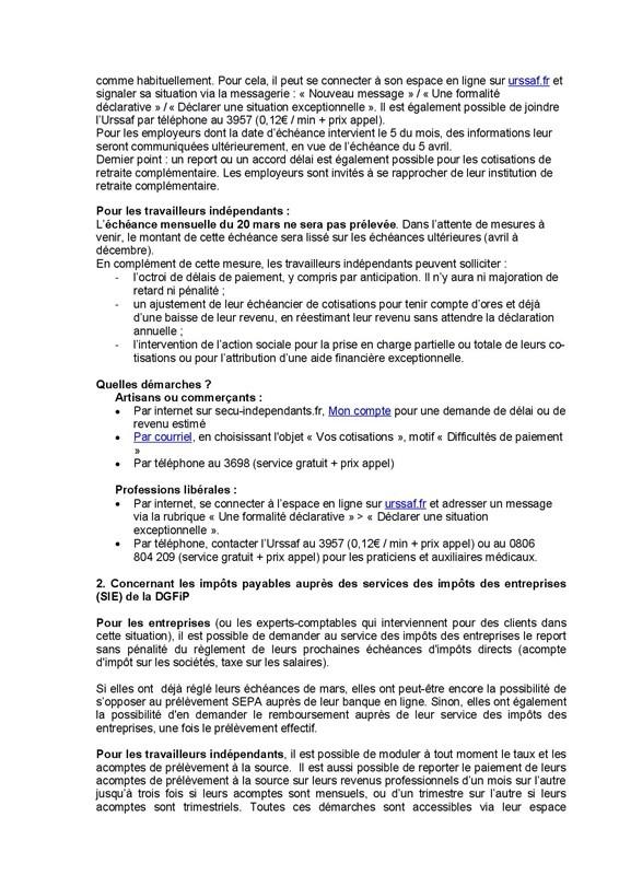 CP-ACOSS DGFIP1 coronavirus mesures Urssaf et impôts p2