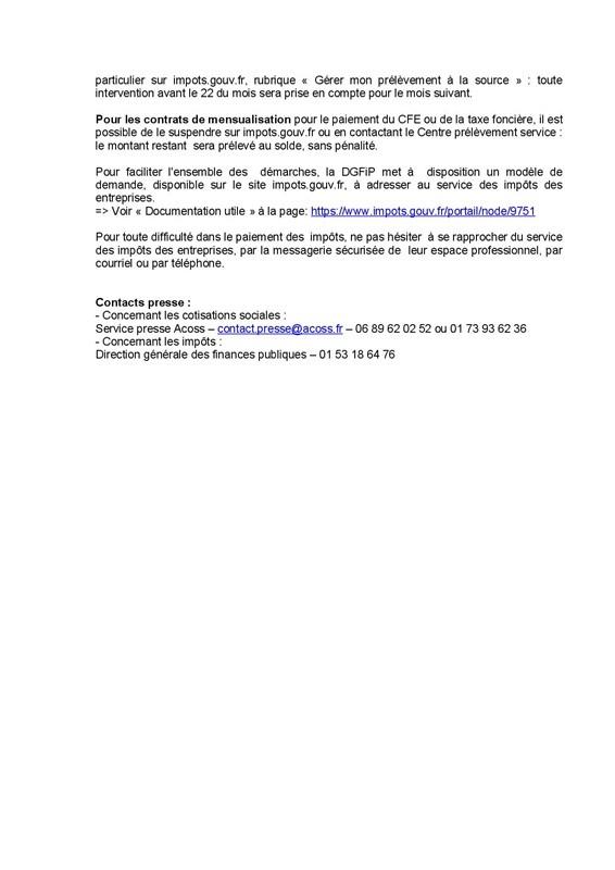 CP-ACOSS DGFIP1 coronavirus mesures Urssaf et impôts p3