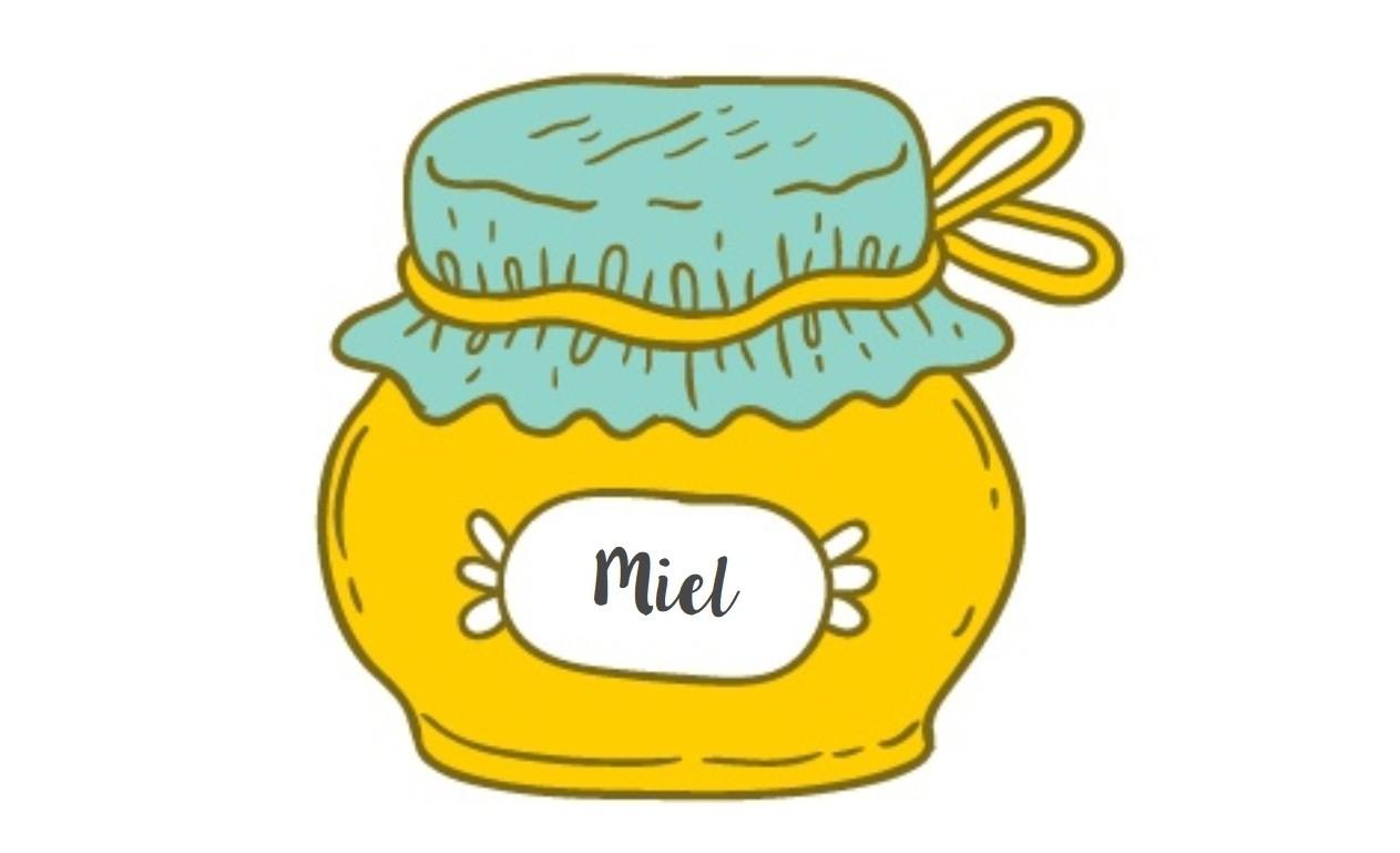 vecteur - pot de miel étiquetage