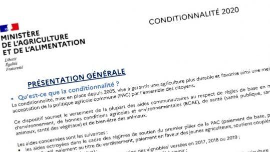 conditionnalité PAC 2020