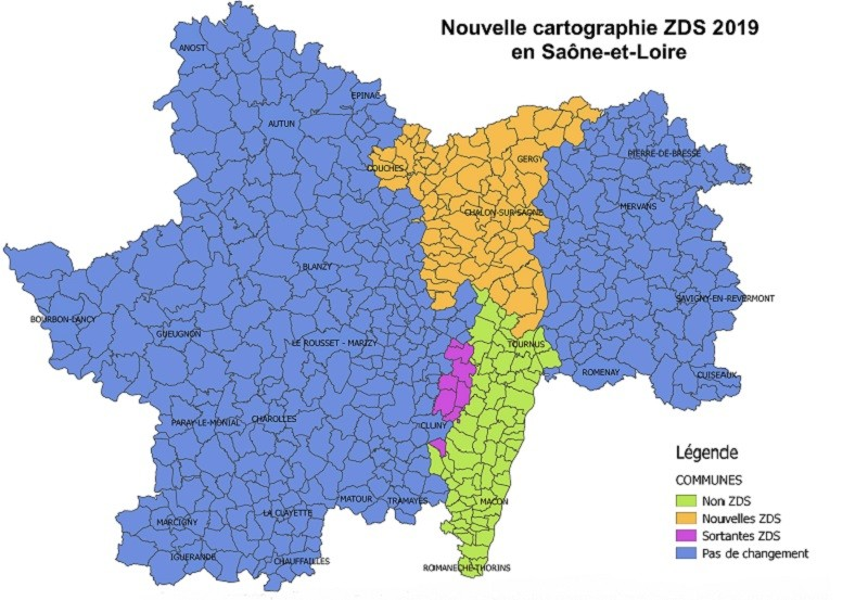 nouvelle cartographie ZDS 71 ICHN