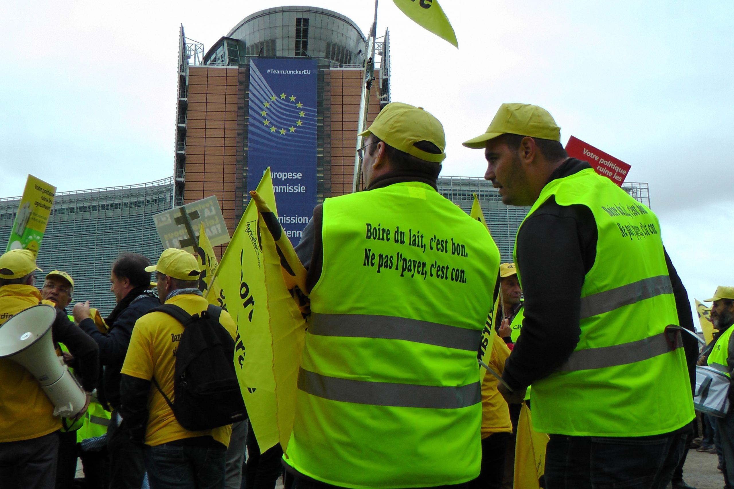 Bruxelles commission lait