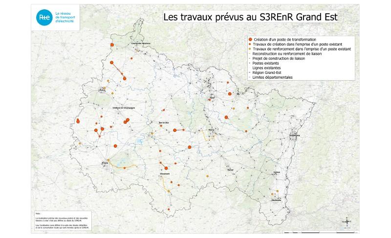 Carte S3REnR Grand Est
