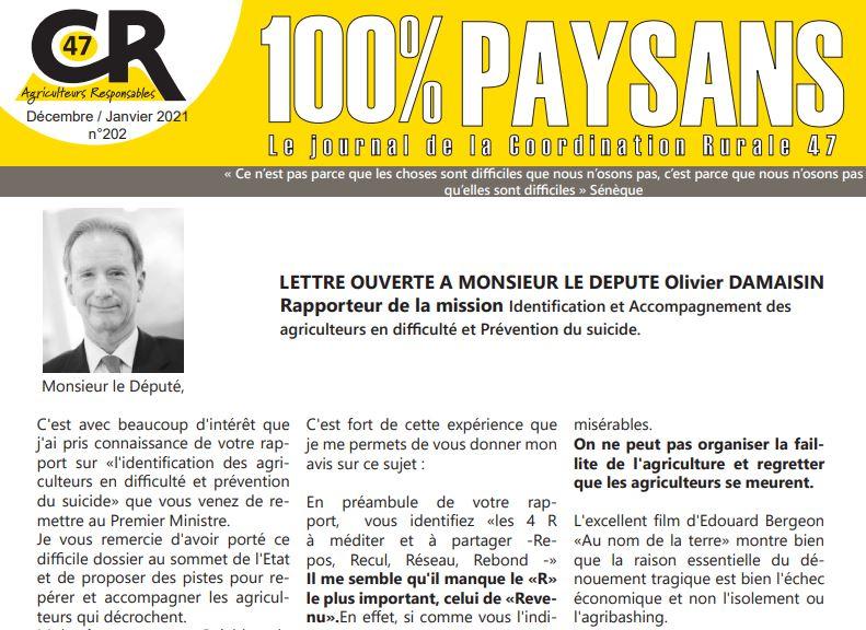 cr47 100% paysans