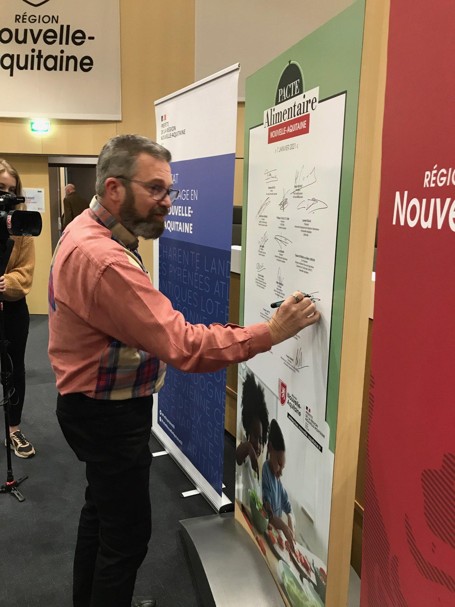 signature pacte alimentaire nouvelle aquitaine