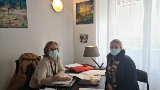21 02 08 Visite à la sénatrice 36 Bellurot lors de sa permanence parlementaire