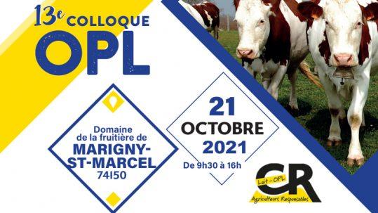 colloque OPL lait